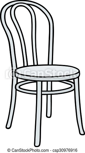 Old white chair - csp30976916  sc 1 st  Can Stock Photo & Old white chair. Hand drawing of a classic white chair.