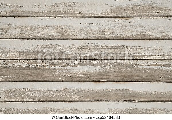 Old White Painted Wood Wall   Csp52484538