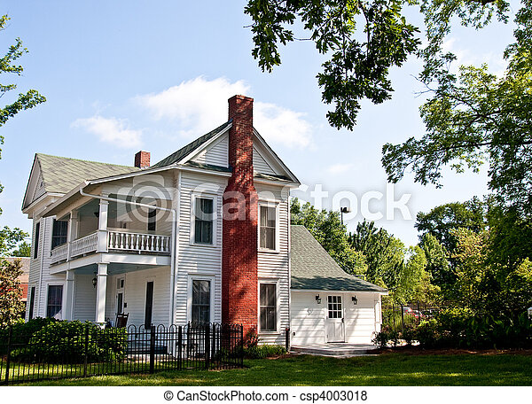 Old white two story farmhouse an old traditional for 2 story modern farmhouse