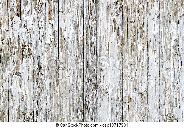 Old white weathered wooden background no. 9 - csp13717301