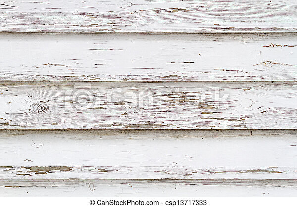 Old white weathered wooden background no. 4 - csp13717333