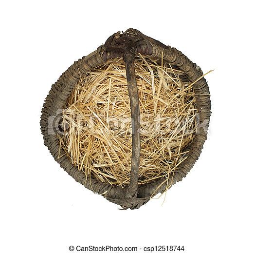 Old wicker basket - csp12518744
