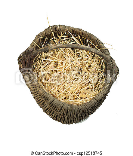 Old wicker basket - csp12518745