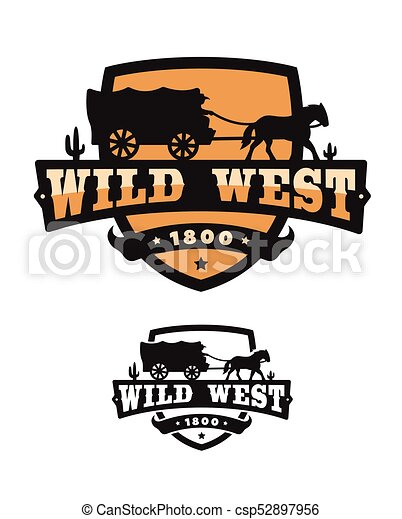 old wild west logo of emblem vector illustration rh canstockphoto com wild west clipart free wild west clip art borders