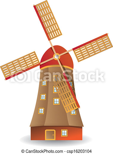 Old windmill - csp16203104