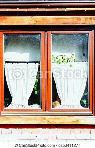 old window in Kiev - csp3411277