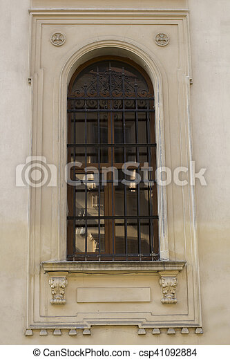Old window on a building - csp41092884