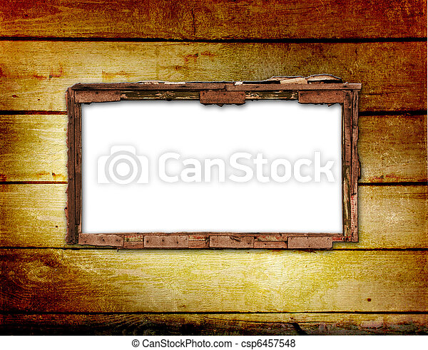 Old window on the antique wall with metal nail - csp6457548