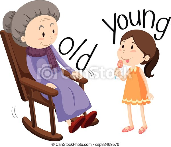 old woman and young girl illustration vectors illustration search rh canstockphoto com young simba clipart clipart young and old
