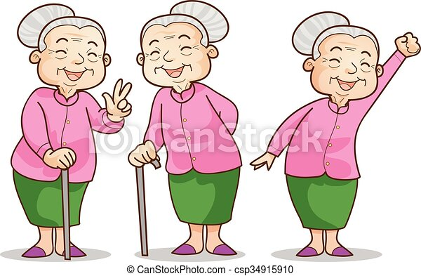 old woman benign funny illustration of old woman cartoon vector rh canstockphoto com crazy old lady clipart old lady clipart black and white