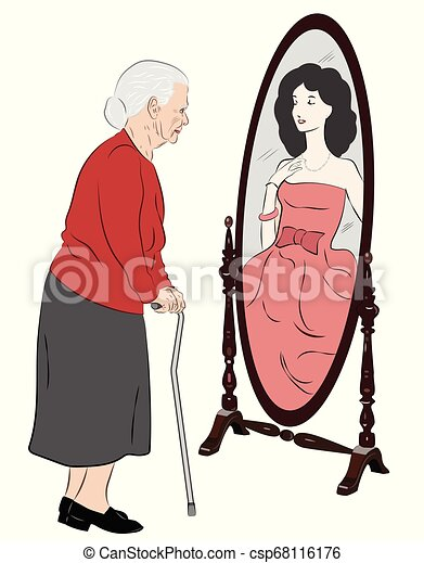 Lady old perception lady young Optical Illusions