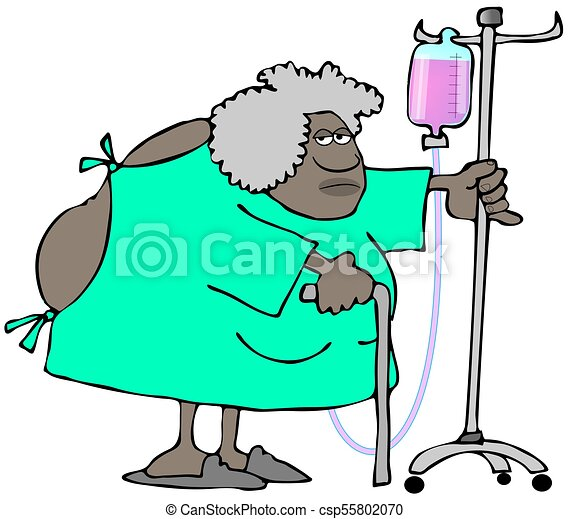old woman wearing a hospital gown open in the back stock rh canstockphoto com woman in hospital bed clipart