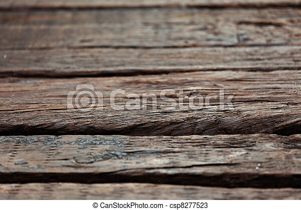 Old Wood Background - csp8277523