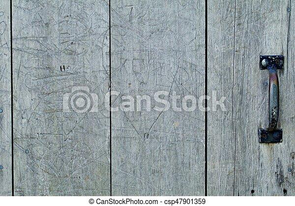 Old Wood Door - csp47901359
