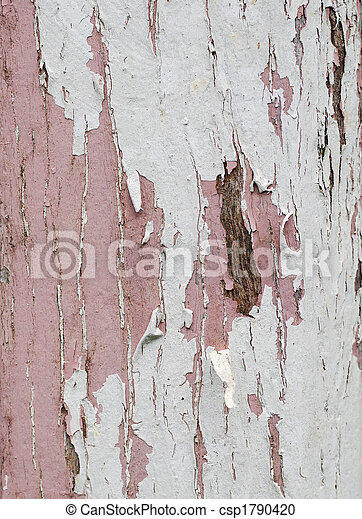 old wood peeling paint - csp1790420