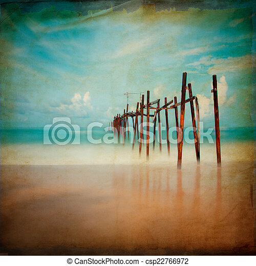 Old wood vintage - csp22766972