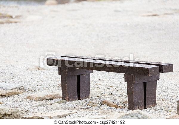 old wooden bench - csp27421192