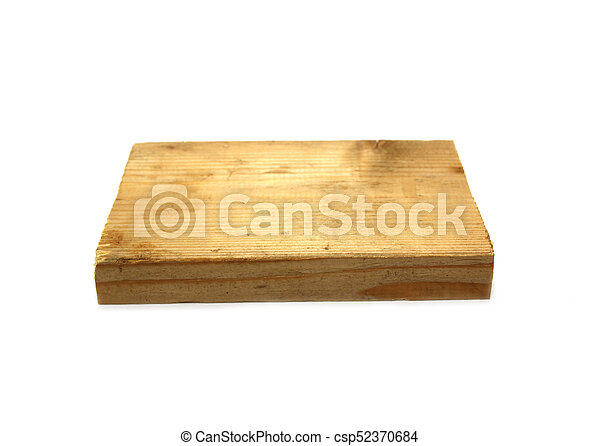 old wooden board on white background - csp52370684