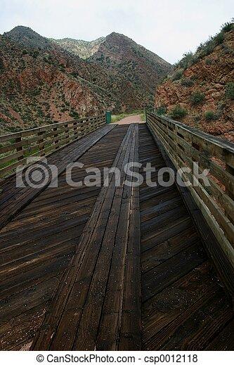 Old Wooden Bridge - csp0012118