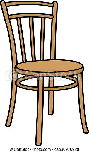 Chair Drawing Old Wooden Csp30976928 Inside