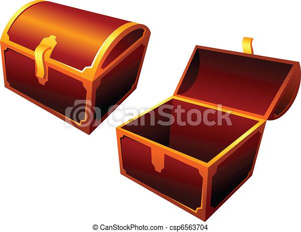 old wooden chest - csp6563704