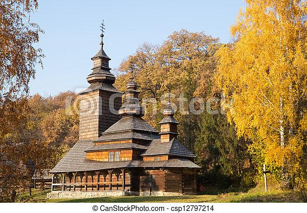 Old wooden church  - csp12797214
