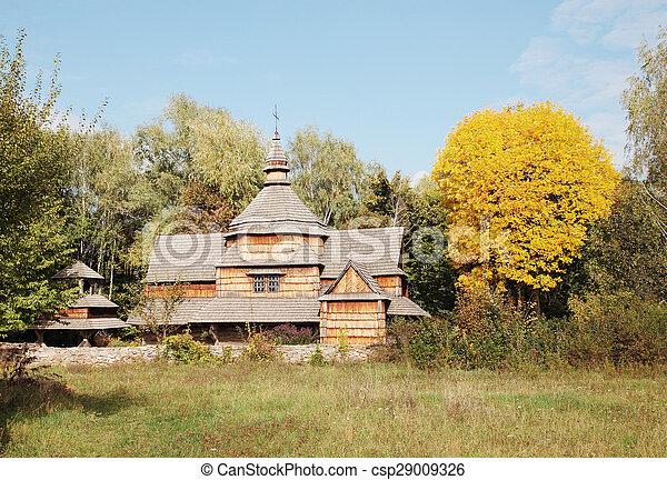 Old wooden church - csp29009326