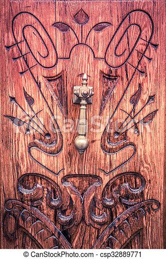 old wooden door - csp32889771