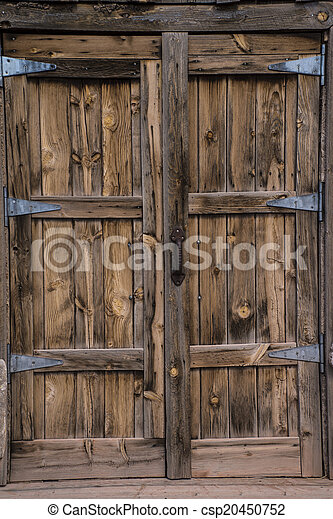 Old Wooden Door Beautiful Rustic Old Style Wooden Door With Metal Hinges