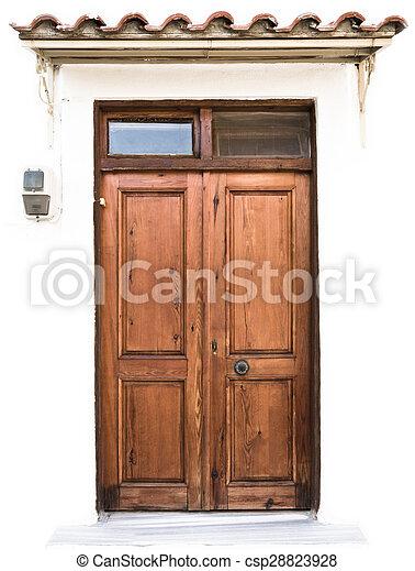 Old Wooden Door - csp28823928