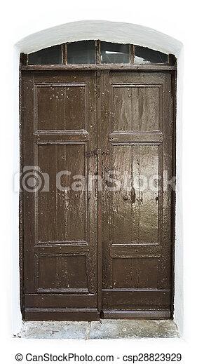 Old Wooden Door - csp28823929