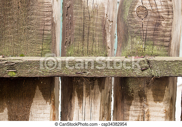 old wooden fence as background - csp34382954