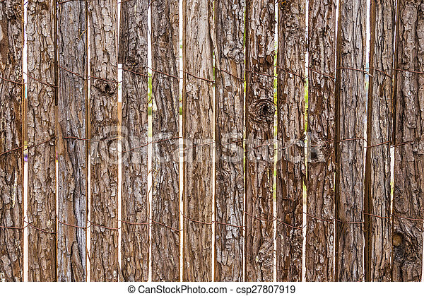 old wooden fence background - csp27807919