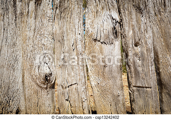 Old Wooden Fence - csp13242402
