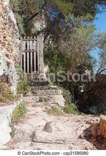 Old wooden gate - csp31586980