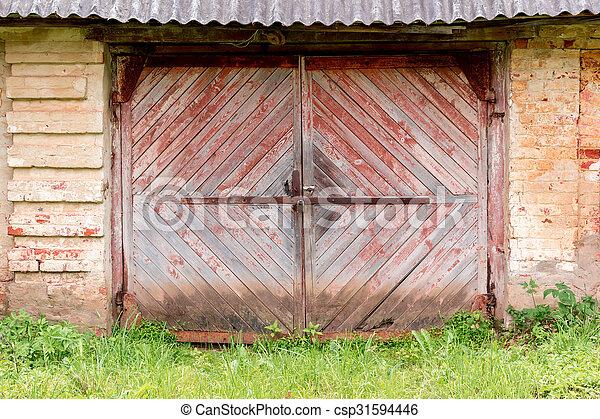 Old wooden gates. - csp31594446