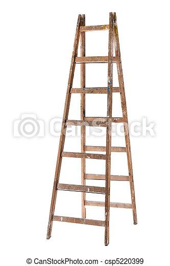 Old Wooden Ladder - csp5220399
