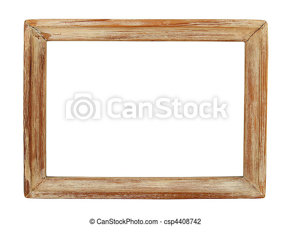 Old wooden picture frame - csp4408742