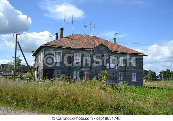 Old wooden residential building - csp19831748