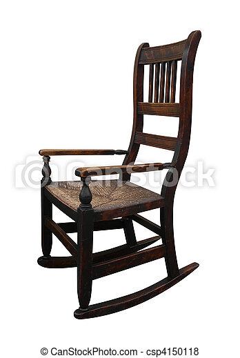Old Wooden Rockin Chair - csp4150118