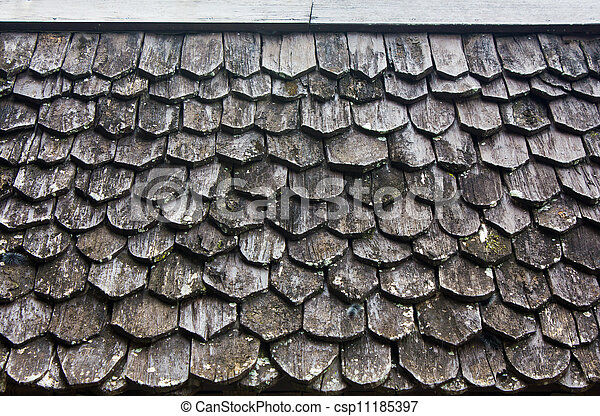 Old wooden roof - csp11185397