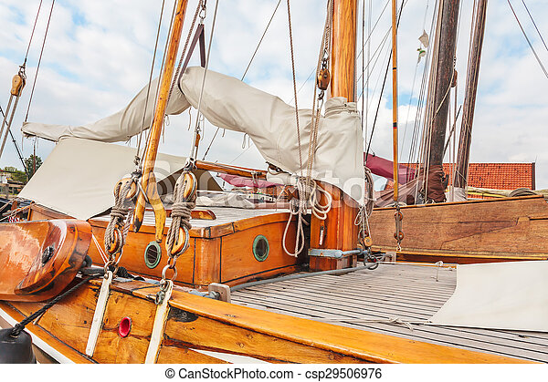 Old Wooden Sailing Boat In The Neth