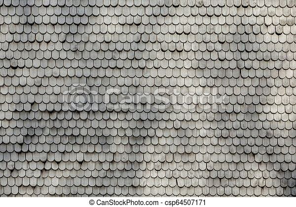 old wooden shingles as harmonic background - csp64507171