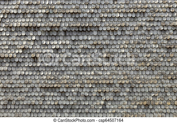 old wooden shingles as harmonic background - csp64507164