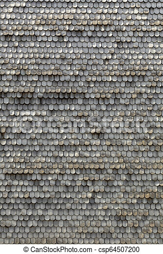 old wooden shingles as harmonic background - csp64507200