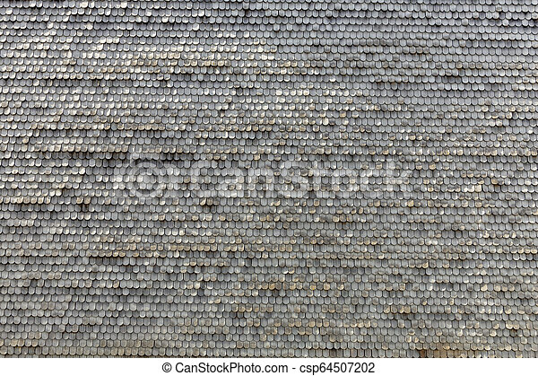 old wooden shingles as harmonic background - csp64507202