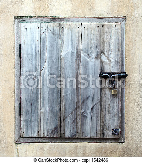 old wooden small door - csp11542486