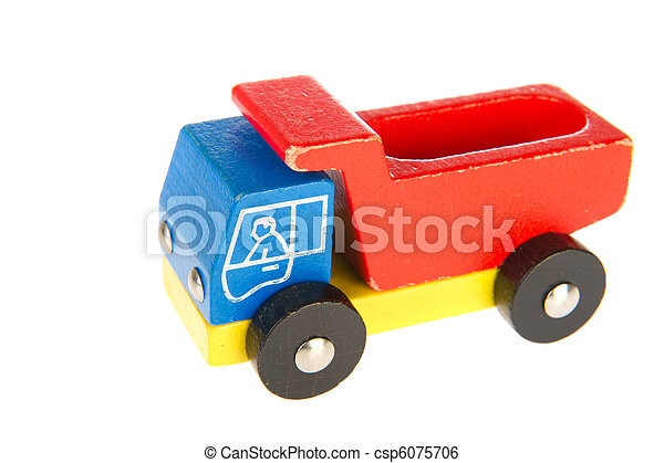 old wooden toy truck - csp6075706