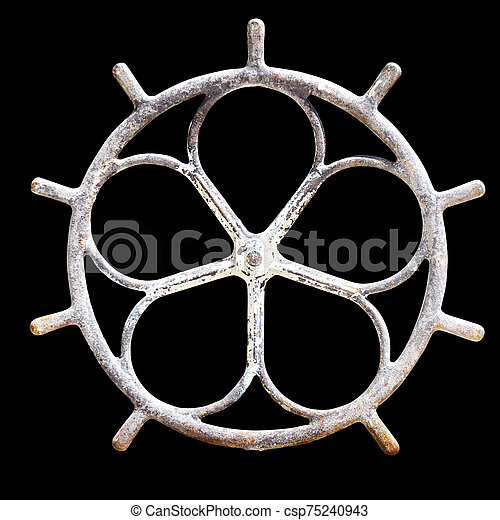 Old wooden wheel from a cart - csp75240943