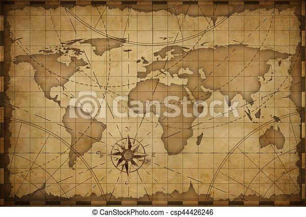 Old world map background old nautical vintage world map drawing old world map background csp44426246 gumiabroncs Image collections